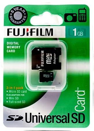 Fujifilm Micro SD-Tarjeta 1 GB Tarjeta de Memoria Mini-SD y ...