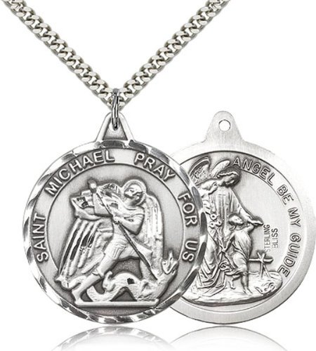 sterling-silver-saint-michael-the-archangel-pendant-medal-1-3-8-inch