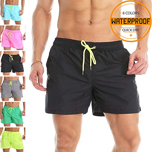 64f1cf6a771d Galleon - YnimioAOX Men's Trunks Quick Dry Shorts Gym Athletic Bodybuilding  With Pockets Swimming Briefs (Black, 2XL /US L)