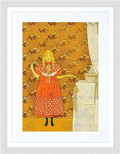 (The Art Stop Girl SOAP Dress Floral Wallpaper Nouveau Clean Teeth Framed Print B12X12488)