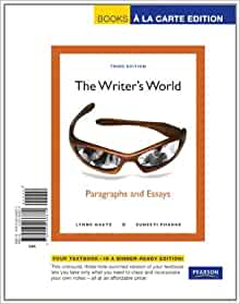 the writers world paragraphs and essays 3rd edition ebook The writer's world : paragraphs and essays plus mywritinglab with pearson etext -- access card package 4th edition isbn-10: 0134038150 isbn-13: gente 3rd edition, gente : nivel bã sico, 3e update 3rd edition isbn-10: 0134040260 isbn-13: 9780134040264 author: de la fuente, maria j and peris, ernesto j.