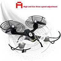 Leewa@ X104 668-A9 2.4G 6-Axis HD Camera WIFI FPV RC Quadcopter Drone Headless mode -Black