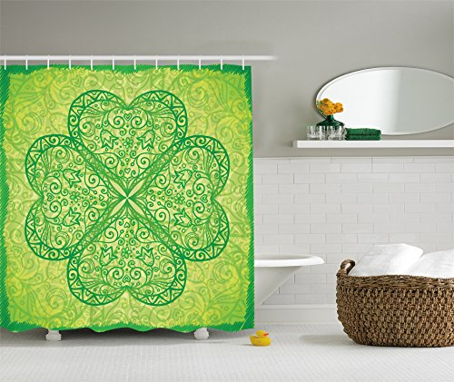 St. Patrick's Day Green Shamrock Shower Curtain