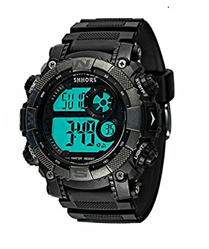 Shhors 805 Water Resistant Day and Date Sports Wristwatch