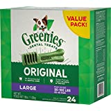 Greenies Dental Chews for Dogs, Large, 24 Count, 5 Pack