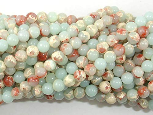 Bead Jewelry Making Art Craft Impression Jasper, 4mm Round Beads