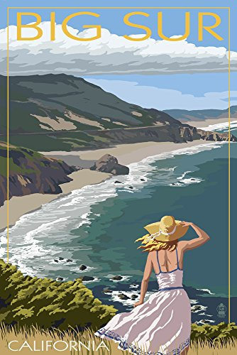 Big Sur, California - Coast Scene (24x36 SIGNED Print Master Giclee Print w/Certificate of Authenticity - Wall Decor Travel Poster)