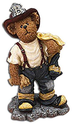 Hero Firefighter Figurine - Boyds Bearstones Russ Q McBearsley Unsung Hero Fireman Firefighter Figurine