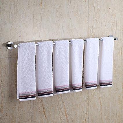TS-nslixuan toallero con doble de toallas para baño de acero inoxidable (60 cm