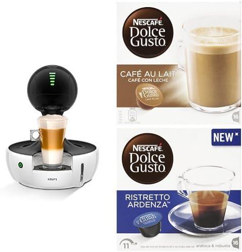 Pack CafetePack Krups Nescafé Dolce Gusto Drop - Cafetera con pantalla táctil, color blanco + 4 packs de café Dolce Gusto: Amazon.es: Hogar