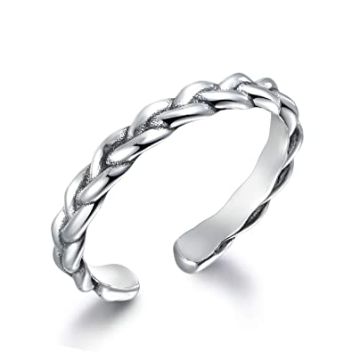 c2aeb45a68711 Guzhile 925 Solid Sterling Silver Ring Celtic Knot Woven Plait ...