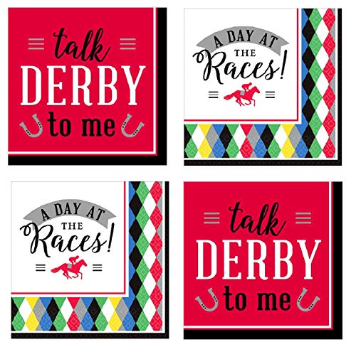 Kentucky Derby Party Supplies Horse Race Cocktail Beverage Napkins 32 -