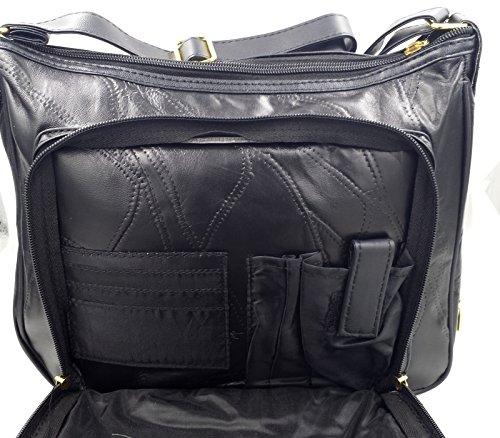 The Premium Leather Company, Borsa a spalla donna Nero nero