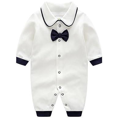 Bebé Mameluco Algodón Pelele Niñas Niños Pijama Manga Larga Trajes de caballero 0-12 Meses: Amazon.es: Bebé