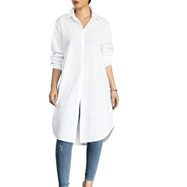 Amazon Vancol Womens Plus Size Sexy V Neck Long Sleeves Button