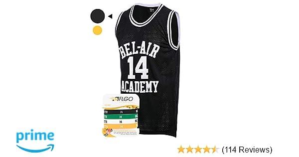 Amazon.com   AFLGO Fresh Prince of Bel Air  14 Basketball Jersey S-XXXL -  90 s Clothing Throwback Will Smith Costume Athletic Apparel Clothing Top  Bonus ... ac264c4b0a