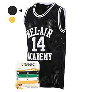 Amazon.com   AFLGO Fresh Prince of Bel Air  14 Basketball Jersey S ... 32508d1e73
