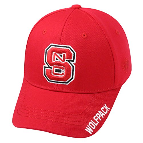 Top of the World NCAA-Premium Collection-One-Fit-Memory Fit-Hat Cap-North Carolina State Wolfpack