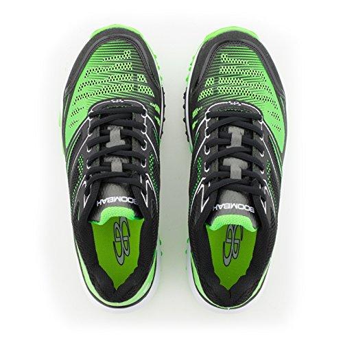 Scarpe Turf Da Uomo Turbo Boombah - 20 Opzioni Di Colore - Più Dimensioni Nero / Verde Lime