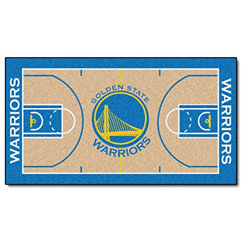 FANMATS  9264  NBA Golden State Warriors Nylon Face NBA Court Runner-Large by Fanmats
