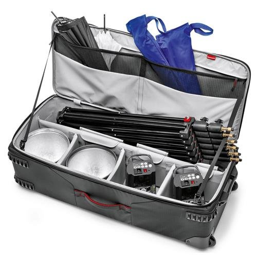 Manfrotto Pro Light LW-97W V2 Rolling Organizer for Lighting Equipment Kit, 39'' External Height