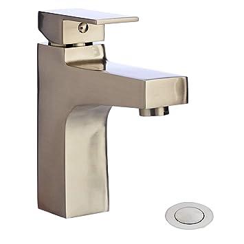 Amazon.com: AmazonBasics - Grifo de baño moderno de una sola ...