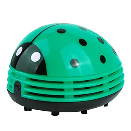 WskLinft Mini Ladybug Desktop Vacuum Cleaner Dust Collector Home Office Cleaning Tool – Green