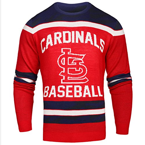 St. Louis Cardinals Ugly Glow In The Dark Sweater - Mens - Mens Large