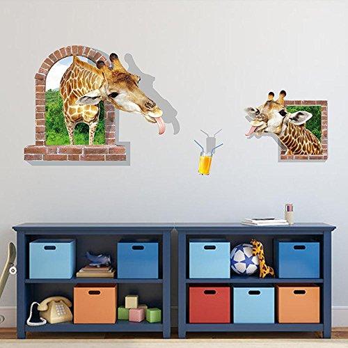 Mkxiaowei Pegatinas de pared tridimensional 3D impermeabilizan decoracin historieta pegatina infantil