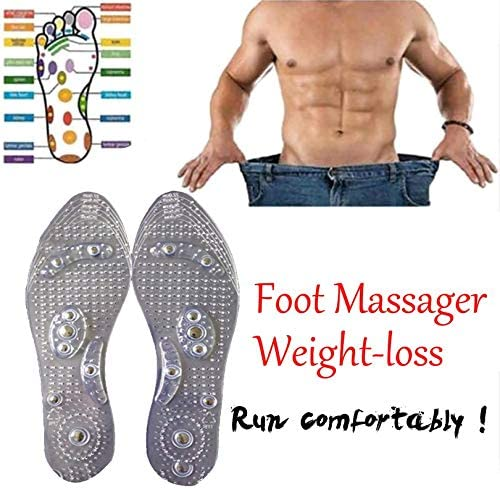 sahnah Magnetic Therapy Slimming Insoles for Weight Loss Foot Massage Health Care Shoes Mat Pad Acupuncture Massaging Insole Sole
