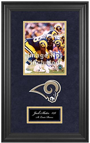 St. Louis Rams Deluxe 8x10 Team Logo Frame by Mounted Memories
