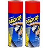 2 PACK PLASTI DIP Mulit-Purpose Rubber Coating Spray RED 11oz Aerosol
