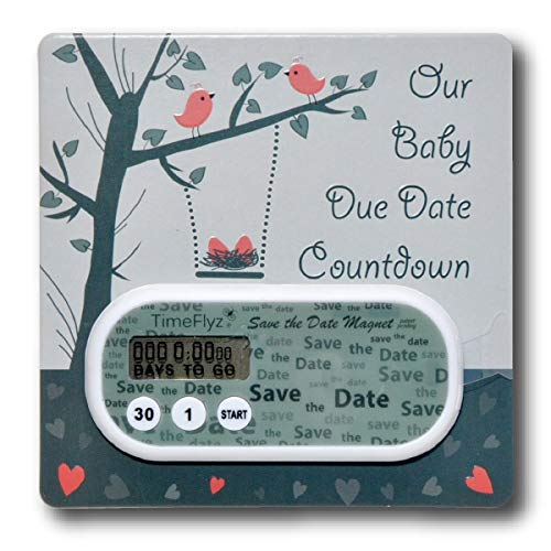 Baby Due Date Countdown Clock & Embellished Card
