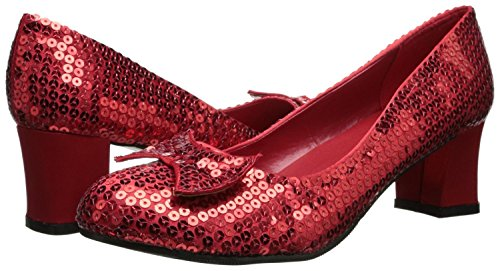 Ellie Shoes 203 JUDY Womens Red Glitter Dorothy Sandals 10]()