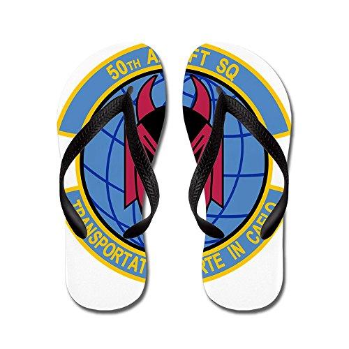 Cafepress 50th Airlift Squadron.png - Flip Flops, Grappige String Sandalen, Strand Sandalen Zwart