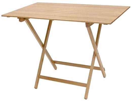 Mesa plegable de madera natural. 100 x 60 cm. Para campin/ casa ...