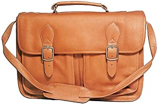 David King & Co. Top Handle Flap Over Portfolio Triple Gusset, Tan, One Size 165T
