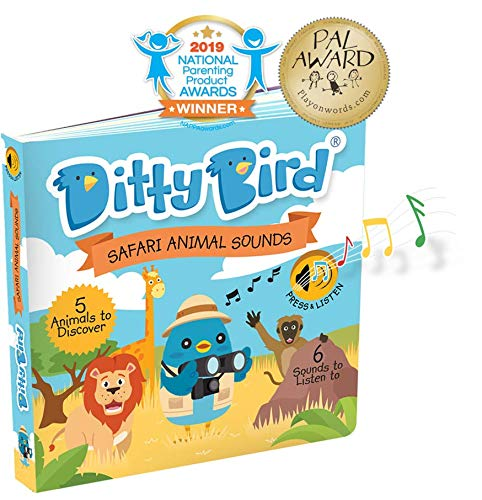 INTERACTIVE SAFARI ANIMAL SOUNDS BOOK for BABIES with Real-Life Sounds and a Rhyme. Interactive Musical Book for Toddlers. Educational Music Toys for 1 Year Old. Sound Books for one year old Boy Girl ()