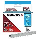Arrow Fastener 506SS1 3/8-Inch Genuine T50 Stainless Steel Staples, 1,000-Pack