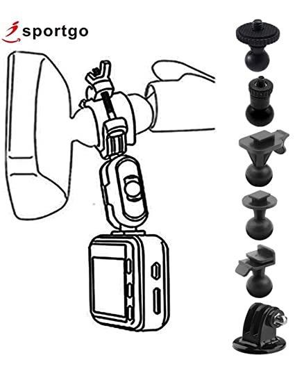 Gopro Dash Cam >> Isportgo S60 Dash Cam Mirror Mount With 6 Different Joints Kit Suitable For Z Edge Old Shark Yi Kdlinks X1 Falcon Zero F170hd Gopro Hero And Most
