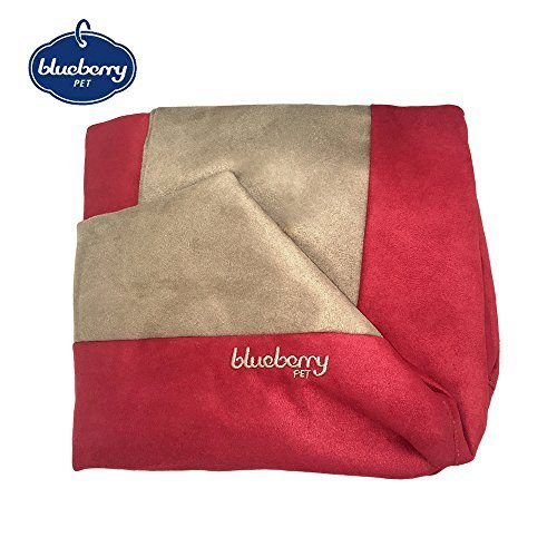 Blueberry Pet Heavy Duty Microsuede Bed Cover Only, Removable & Washable Replacement Cover with YKK Zippers, for Cats & Dogs Bed 25