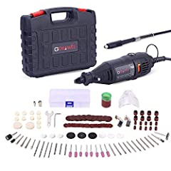 ◆GOXAWEE Electric Rotary Tool kit is100% brand new&high quality. ◆5 Step Variable Speed: Speed changing from 8,000 to 30,000 rpm for a different situation to adapt to the target. ◆3 Jaw Keyless Drill Chuck: The GOXAWEE multi chuck has...