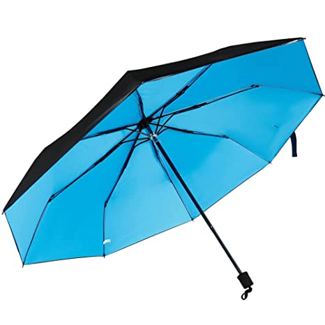 Paraguas Plegables Portátil,LUOLLOVE Paraguas Antiviento Pequeño, Reforzado 8 Costillas, Protección UV,