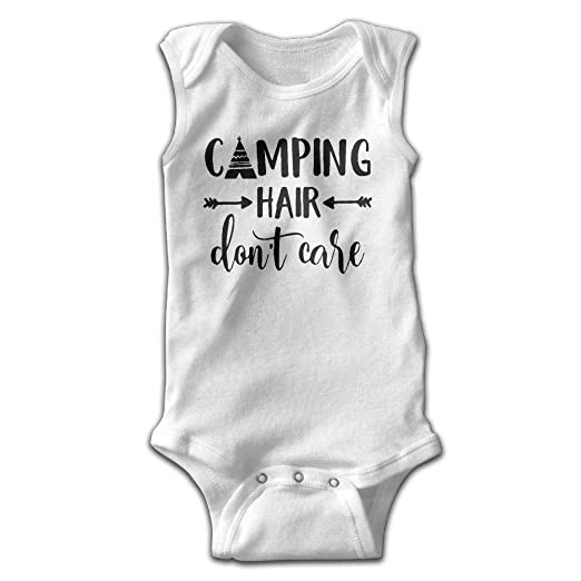 e4e2c62da Amazon.com  Camping Hair Don t Care Infant Baby Boys Girls Crawling ...