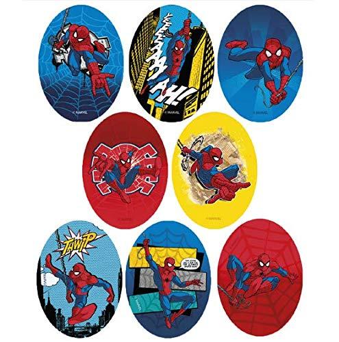 REF.6797-U8 8 parches spiderman rodillera serigrafiados para planchar