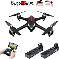 JOLIMENT MJX B2W Bugs 2 GPS Brushless RC Quadcopter Drone With 5G WIFI FPV 1080P HD Camera Altitude Hold Headless Aircraft Toys