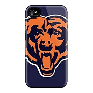 Awesome Design Chicago Bears Nfl Team Logos X Pixels Head Hard Case Cover For Iphone 4/4s