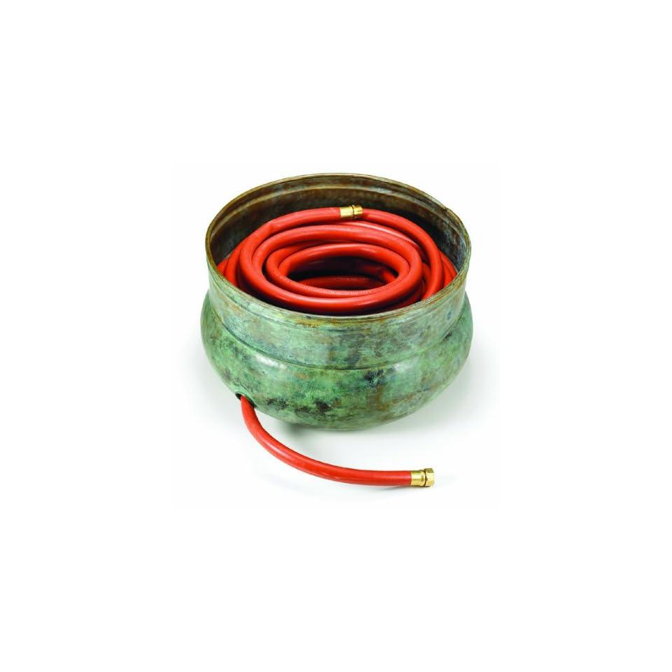 12 x 18 Handmade Ceder Key Brass Garden Hose Pot / Planter