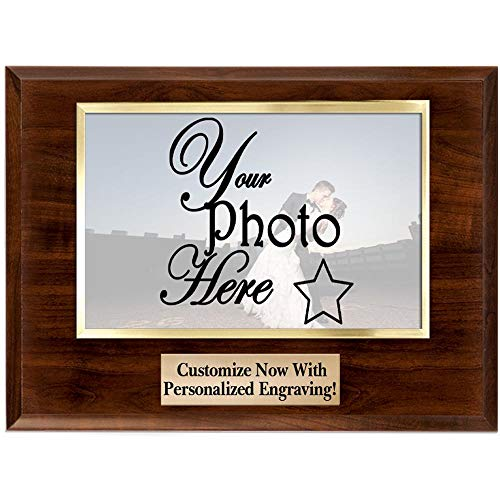 tal Photo Frame Plaque - 10x8 Custom Photo Plaque Gift with Clear Acrylic Photo Cover and Personalized Engraving ()