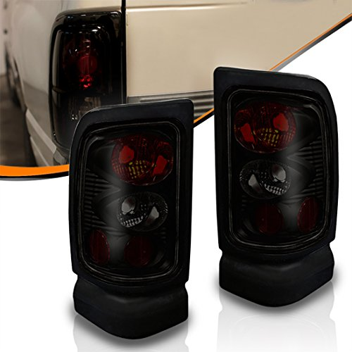 Sport Tail Black (Taillights For 1994-2001 Dodge Ram 1500, Tail Lamps for 1994-2002 Dodge Ram 2500 3500 Rear Tail Lights (Do NOT Fit SPORT MODELS & 2002 Dodge Ram New Body Style Models))